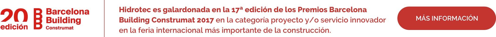 Hidrotec consiguió el premio a la excelencia técnica y la capacidad de dar respuestas a los nuevos retos del sector innovación.