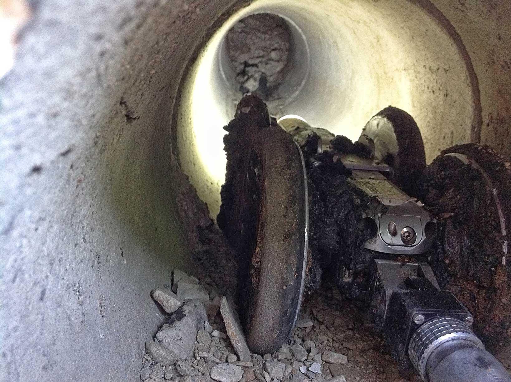 Cámara al inspeccionar tuberías