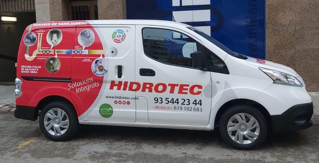 Vehículo eléctrico de Hidrotec.
